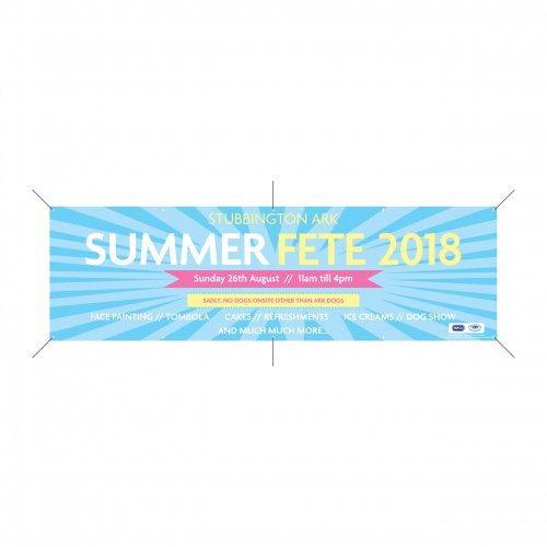 Printed vinyl banner