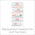 Replacement Graphics for roof Top Signs