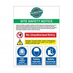 Site safety notice