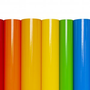 Rolls of colored vinyl film