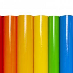 Rolls of colored vinyl film